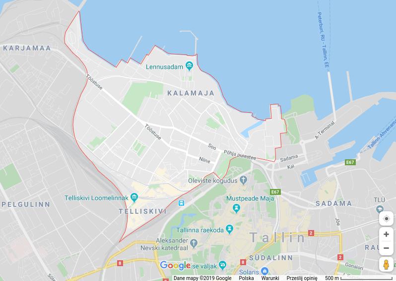 mapa dzielnicy Kalamaja