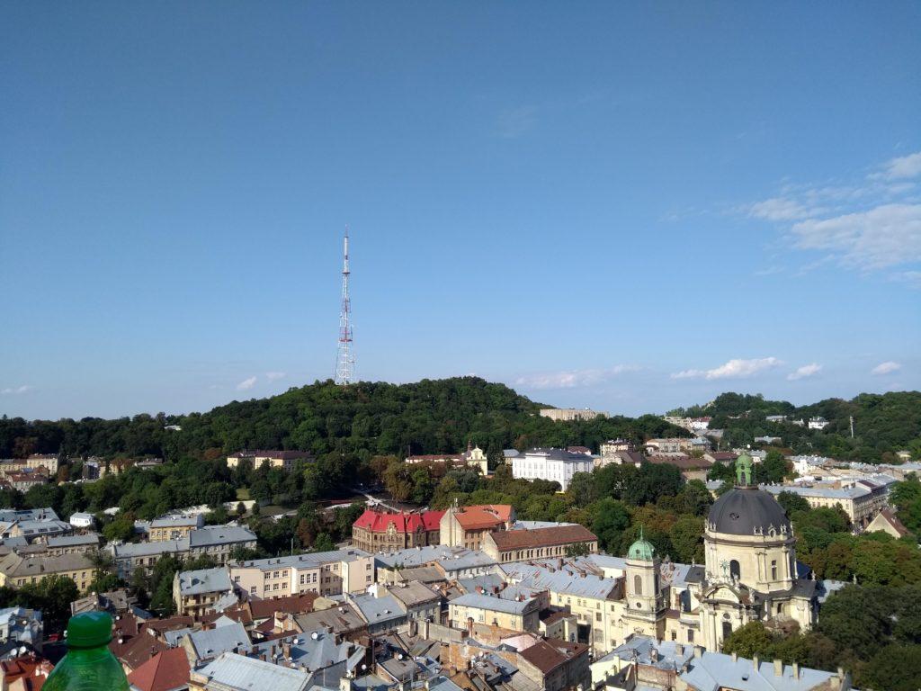 widok z wieży ratusza