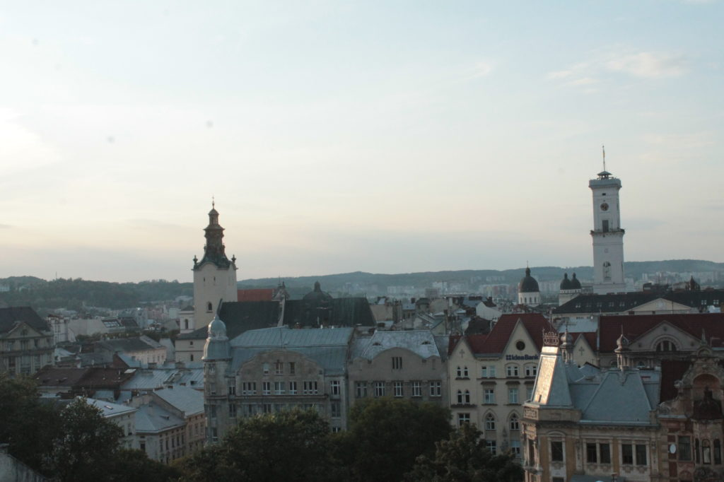 Partyfon widok na Lwów