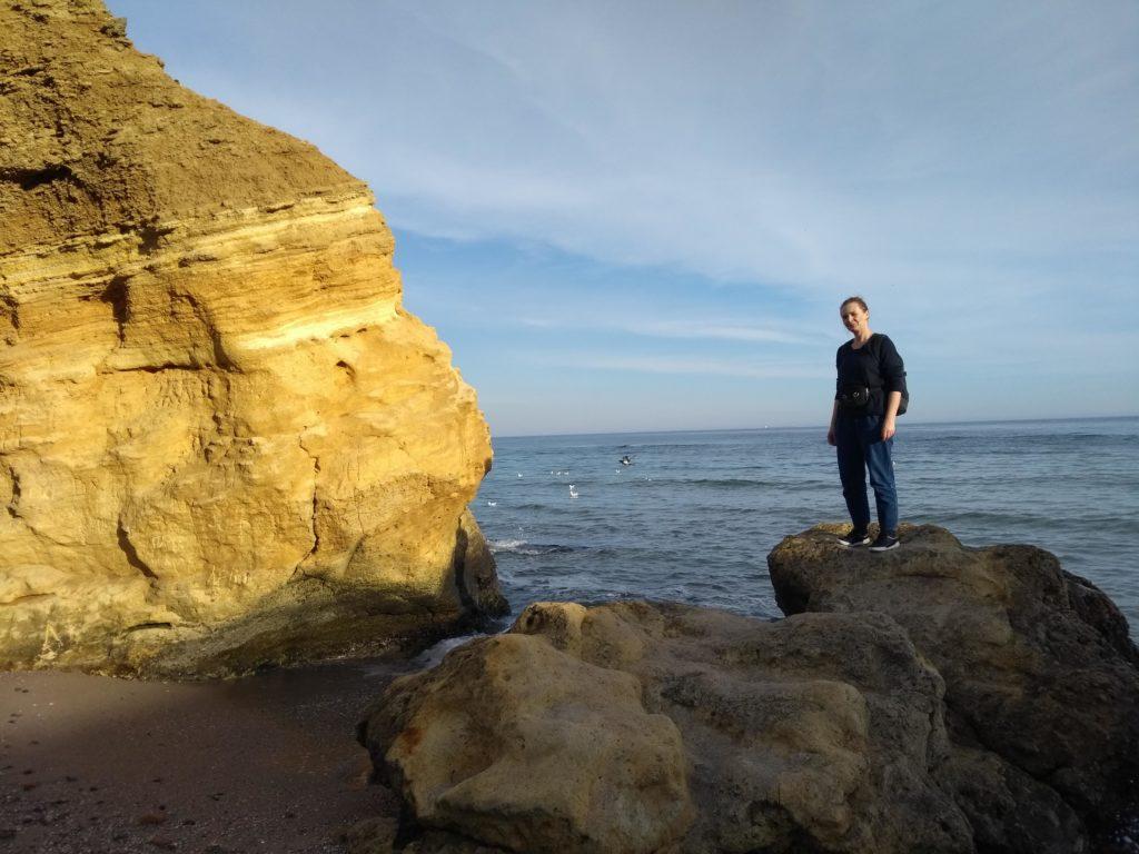 na plaży w Odessie