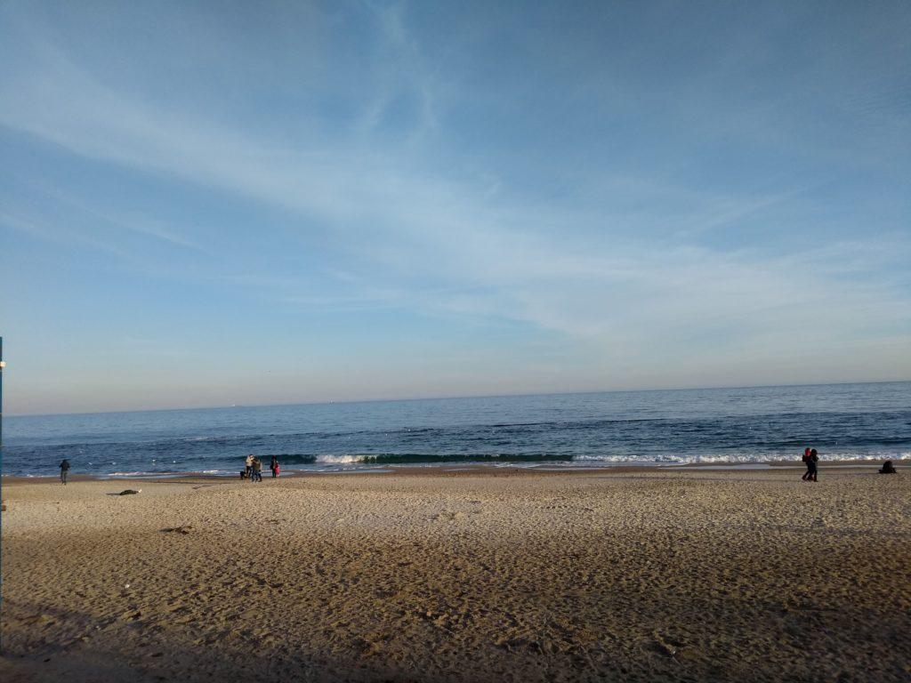 widok na plażę w Odessie