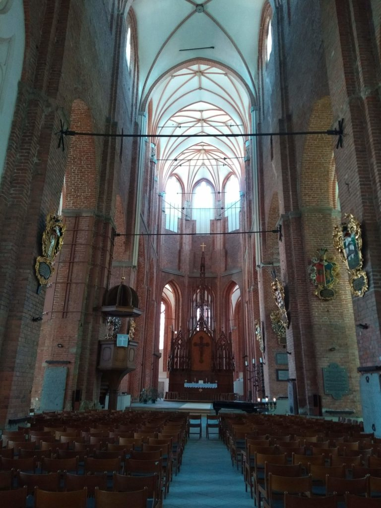 ołtarz kościoła św. Piotra stolicy Łotwy
