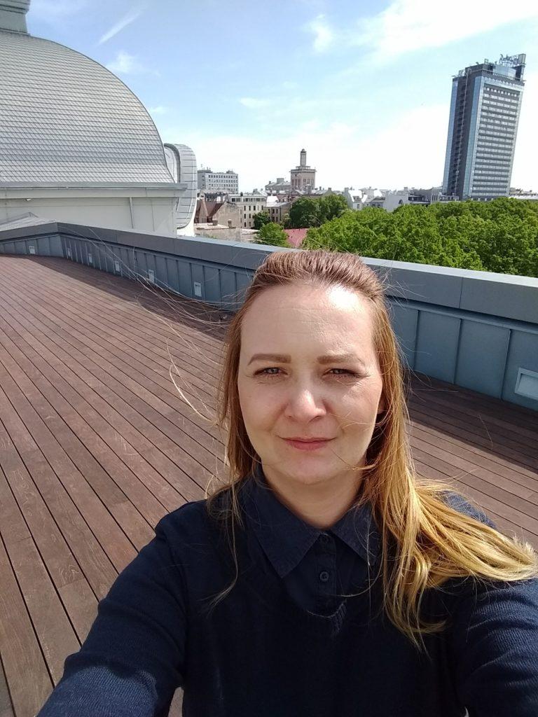 taras na dachu Łotewskie Narodowe Muzeum Sztuki